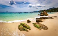 White sand beach. Vietnam
