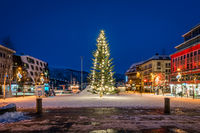 Huge Christmas tree in Tromso town