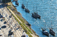 Wine boats at Porto promenade