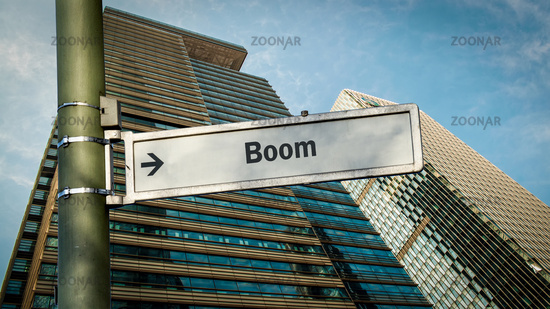 Street Sign to Boom