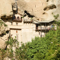 Monastery in the cliff in Meteora