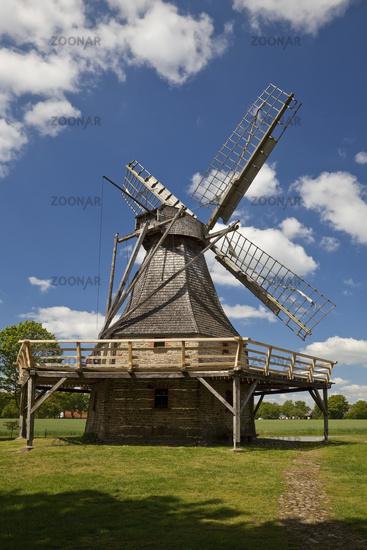 wind mill Levern, Stemwede, East Westphalia, North Rhine-Westphalia, Germany, Europe