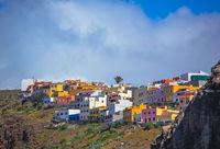 Colourful homes  in San Sebastian town