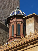 Detail of a church in Valencia.