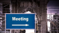Street Sign to Meeting