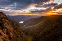 Sunset across the Cumberland Ranges
