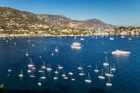 View to a beautiful bay in French Riviera