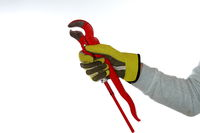 working hand with plier