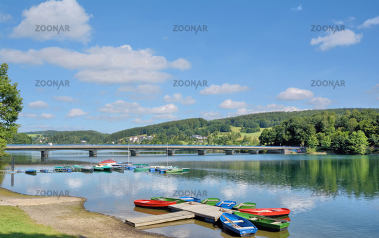 at Listertalsperre Reservoir in Sauerland region,North Rhine westphalia,Germany