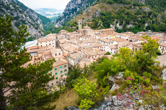 small village in the mountains of the Marche Italy