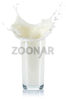 Milch Splash Spritzer spritzen Milchspritzer Glas Milchglas freigestellt Freisteller isoliert