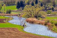 Winding Altmuehl river in Bavaria