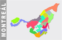 Colorful Montreal administrative and political map