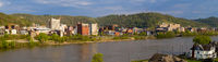 The Ohio River Meanders by Reflecting Buildings of Wheeling West Virginia