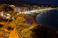 Lloret de Mar Sea Town At Night