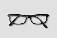 Black glasses isolated on grey