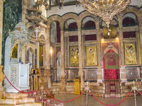 city of Jerusalem, the interiors of Christian churches.