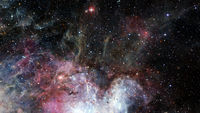Abstract bright colorful universe. Nebula night starry sky. Elements of this image furnished by NASA