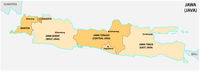 simple administrative and political vector map of indonesian island java