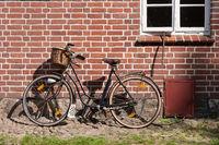 Vintage bike on a brick wall