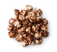 Top view of chocolate popcorn