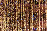 Christmas yellow lights for holiday background