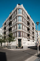 Corner building,  residential apartment house  in Berlin, Mitte -