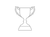 Vector illustration of a championship cup thropy isolated on a white background