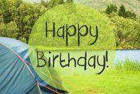 Lake Camping, Text Happy Birthday, Norway Beautiful Nature