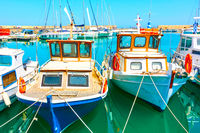 Fishing boats in the port in Heraklion