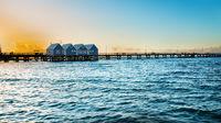 Famous wooden Busselton jetty in Western Australia