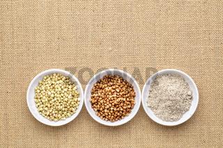 buckwheat groats, kasha and flour