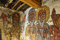 Portraits of Abba Samual and Abuna Kiros,rock-hewn church Petros and Paulos Melehayzengi,Ethiopia