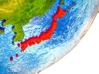 Japan on 3D Earth