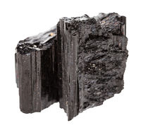 crystal of black Tourmaline (Schorl) isolated