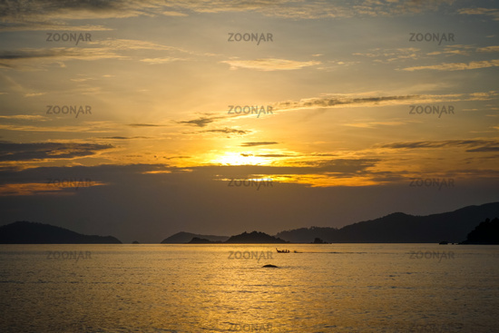 Tropical beach at sunset in Koh Lipe, Thailand