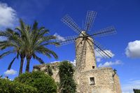 Old windmill in Sineu, Mallorca, Spain