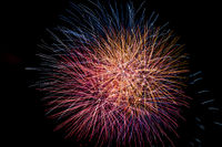 A bright and colorful fireworks celebration