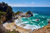 USA Pacific coast beach landscape, California