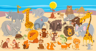 cartoon animal characters collection background