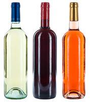 Weinflaschen Wein Flaschen Sammlung Weine Rotwein Weißwein Rose Alkohol freigestellt