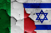 flags of Italy and Israel