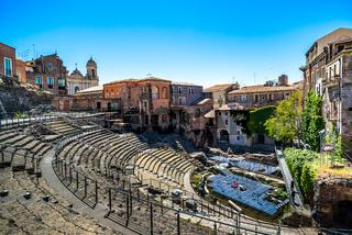 Roman Theatre of Catania in Sicily, Italy