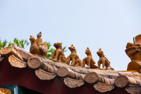 Chinese temple traditional roof ornaments