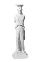 Classic statue woman on a white background