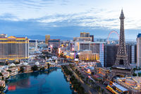 Las Vegas strip sunrise