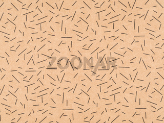 Brown craft paper with a black stroke pattern