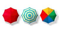 Beach umbrellas set
