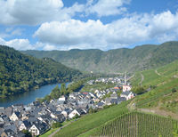 Wine Village of Ediger-Eller in Mosel Valley at Mosel River,Rhineland-Palatinate,Germany