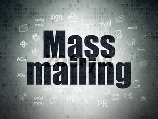 Advertising concept: Mass Mailing on Digital Data Paper background